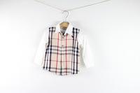 5pcs/lot Hot autumn spring dog boy blouse kids casual long lattice Shirt 3colors