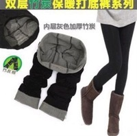 2014 fashion winter bamboo charcoal fiber double nine points warm trousers women leggings/Thickening !!!! Free shipping
