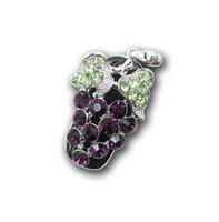 Tonpha  2gb 4gb 8gb 16gb 32gb Grape Crystal Diamond Jewelry USB Flash Drive Free Shipping