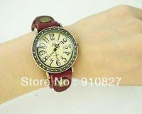 Slim leather band woman quartz watch, women beautiful dress watches wholesale 300pcs DHL free shipping