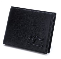 Hot Sale Brand Cowhide Kangaroo Men's Wallet Genuine Leather Boys Short Purse/Wallet For Men Wholesale Free Shipping QB -39