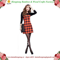 Free Shipping autumn dress slim lattice long sleeved dress office lady's skirt