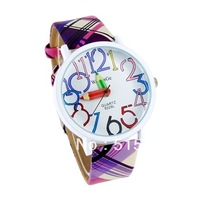 WoMaGe 9329 women dress watches Pencil Hand Women's Round Case Leather Strap Watch