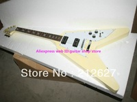 Wholesale New Arrival Cream Flying V Electric Guitar High Quality Best Selling