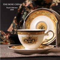 Christmas Gift! European Style   Fine Bone China Coffe  Cup and Saucer  Luxury