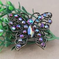 vintage butterfly brooch metal flower brooch jewelry for women new design fashion free shipping