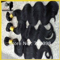 Free shipping!!!brazilian body wave,makeup human hair, 4 pcs lot mix,grade 5a,color#1, #1B, #2, #4