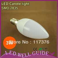 Free Shipping 10pcs/lot led candle light /e14 led bulb 3W 8 SMD 2835 220V-240V Warm White / Cool White