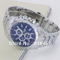 10 Pcs /Lot Stainless Steel Luxury  Mens Watch  Dark Blue Case  Top Sale