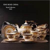 Gift Boxed ! 15pcs/set Gorgeous  Fine Bone China Coffe  Cup set Luxury