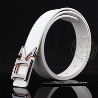 Letter buckle white strap women's strap casual male fashion belt all-match female strap belt