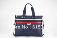 2013 fashion genuine leather handbag men's briefcase computer bag Cowhide handbag Luxury designer brand tote messenger bags M496