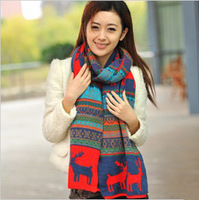 Scarf female autumn and winter elk thickening onta yarn scarf cape dual-use ultra long