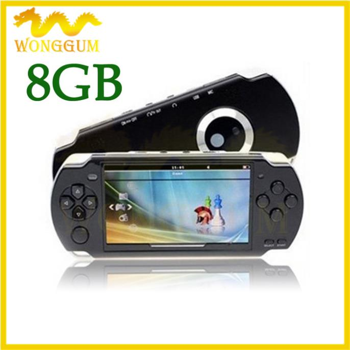 HOT SELL 4GB 4.3 Inch PMP Handheld Game Player MP4 MP5 Player Video FM Camera Portable Game Console 4pcs Free DHL EMS Shipping(China (Mainland))