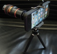New  8X Zoom  Camera Lens for iPhone5  Mobile Phone Universal Telescope Long Focal with Mini Tripod Holder