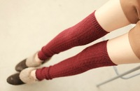 Rabbit wool women thermal over-the-knee ankle sock leg warmmers. warm and slim, free shipping