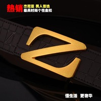 Z buckle ashion leisure designer belts for men genuine leather belt Men's belts Free shipping