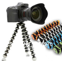 Free shipping Octopus Flexible Mini Camera Tripod for camera  With 1/4 screw mount holder