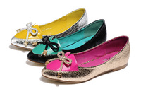 Spring 2013 latest single shoes fashion sequins round head light mouth goosegrass bottom leisure women flat shoes on sale