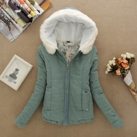 Ms. fall and winter clothes hooded short jacket coat Y6
