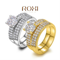 ROXI Exquisite gold plated wedding Ring,platinum plated with AAA zircon,fashion beautiful rings,best Christmas gifts,101048786.