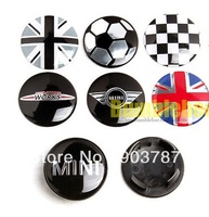 100pcs 54mm ABS mini john cooper works wheel center caps mix black mini wheel caps hub cover wholesale