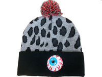 2013 newest FASHION STYLE Mishka keep watch pom beanie with big eyes hiphop street headwea knitted hat for men and women cheap