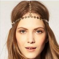 2013 Fashion metallic  girl party headband hair chain  for women hair  accessories lady headwear    12pcs/lot free shipping