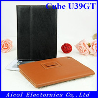 "1pcs Free ship! Protective PU Leather case Cover For Cube U39GT 9"" Tablet pc"