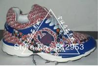 New luxury brand name women sneaker colofurl blue sports sneakers shoe genuine leather shoe