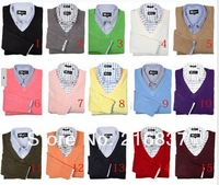 Free shipping new winter men's v-neck cashmere polo sweaters men's long-sleeve polo sweater size:S,M,L,XL,XXL,3XL