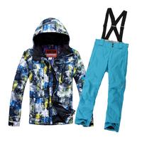 Burton ski suit set Men skiing underwear male outdoor single skiing set male windproof thermal