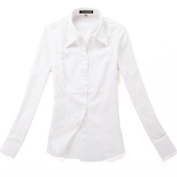 2013 summer work wear formal female work wear ol long-sleeve shirt white jacquard shirt