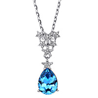 Neoglory accessories crystal exquisite pendant female short design necklace chain gift