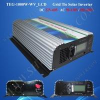mppt solar charge controller grid tie inverter 1000w, dc 22v-60v input to ac 100v, 110v, 120v