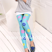 New Fashion knitting LG-043 Free shipping multicolor trousers  legs cat patterned autumn and winter women leggings 1PC/LOT