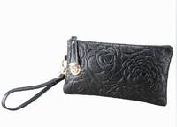 Special spike leather hand bag ladies clutch handbag zero Miss Qian Bao Lucky lock clutch bag