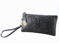 Special spike leather hand bag ladies clutch handbag zero Miss Qian Bao Lucky lock clutch bag