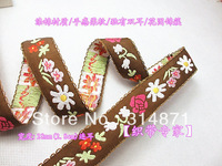 Wk 3, 2013.11 Hot sales!!! Free Shipping! 28mm Beautiful national style lace quality ears jacquard ribbon garment accessories