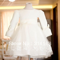 Autumn and winter child formal dress female child princess dress laciness lace puff skirt flower girl long-sleeve