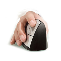 Wireless Vertical Ergonomic Optical Mouse Wireless+USB Receiver for all Computers or Laptops