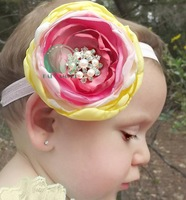 (1 piece) pearl flower girls' headbands