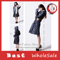 Free shipping Fashion Rain Coat Woman Round Dot-Shaped Raincoat Young girl' RainCoat (25 pcs/ lot )