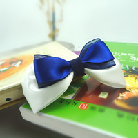 Free shipping handmade  ribbon bow hair accessory, sizes and colors can be customized.