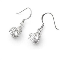 Diy earring accessories 925 pure silver platinum diamond austria crystal