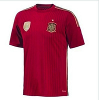 The 2014 World Cup/Thai quality 13-14 Spanish national short-sleeved shirt at home football jersey clothing