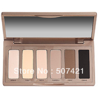 Promotion~ 1pcs professional N Basics 6-color eyeshadow palette palette women's eye makeup Free Shipping