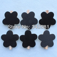 Free Shipping 100pcs/lot Top Quality Flower Blackboard Peg Wooden CHALKBOARD For Wedding Party Wood Craft Gift Decoration