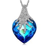HOT SALE!!! fine jewelry Angel heart super large Austrian crystal luxury necklace