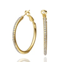E463 European and American popular gift ideas Ms. 18K gold color earrings earrings manufacturers Hot